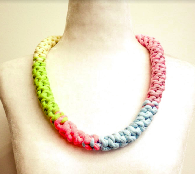 Reversible Multi Coloured Necklace - Greta