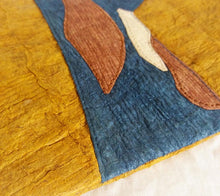 Tree Bark Natural Dyed Pouch - Brown and Indigo