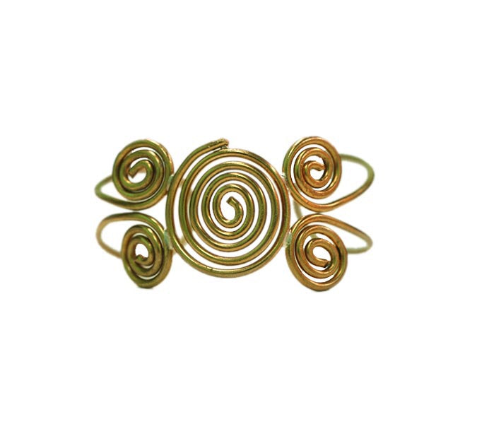 Dhokra Brass Bracelets - Closed Spiral