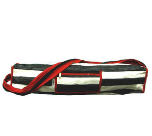 Yoga Bag - White, Black and Red