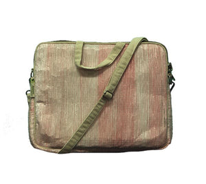 Upcycled Handmade Laptop Bag - Pink