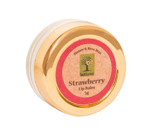 Organic Beeswax Lip Balm - Strawberry