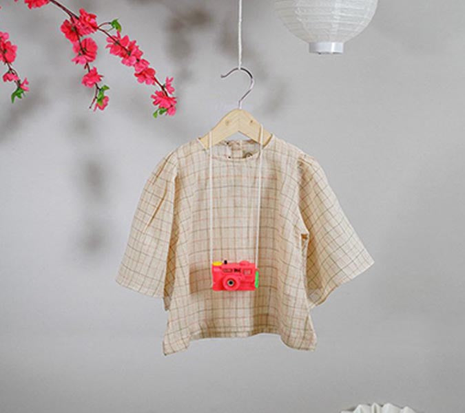 'Kawaii Bonsho' in Handwoven Checks