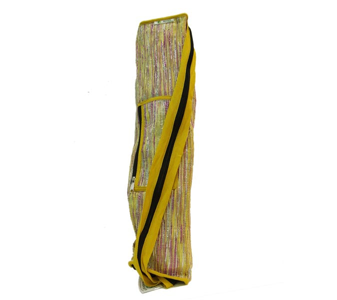 Yoga Bag - Yellow,pink glitter