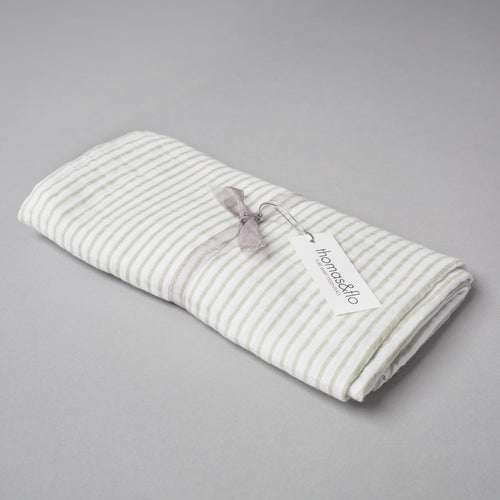 Organic Muslin Swaddle Blanket - Stripes