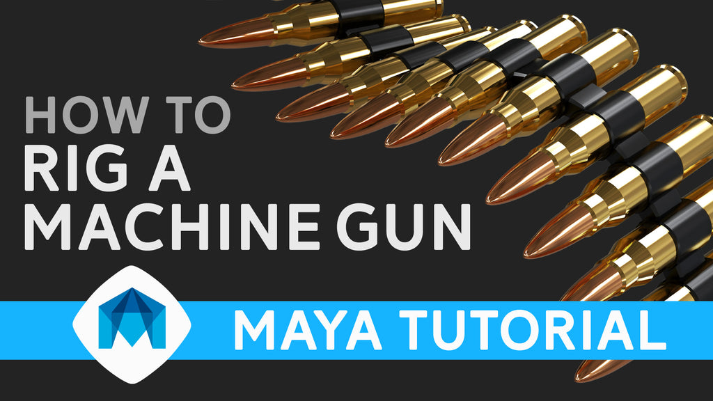How to rig a machine gun in Maya