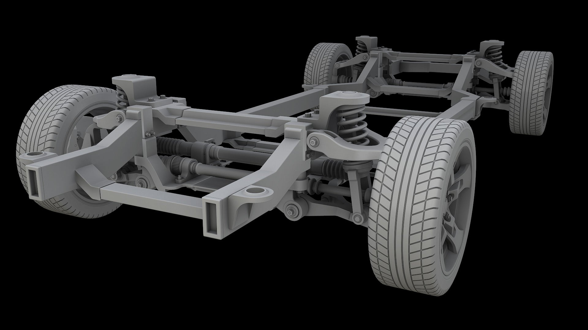 Car Chassis 3D Model Bake 1