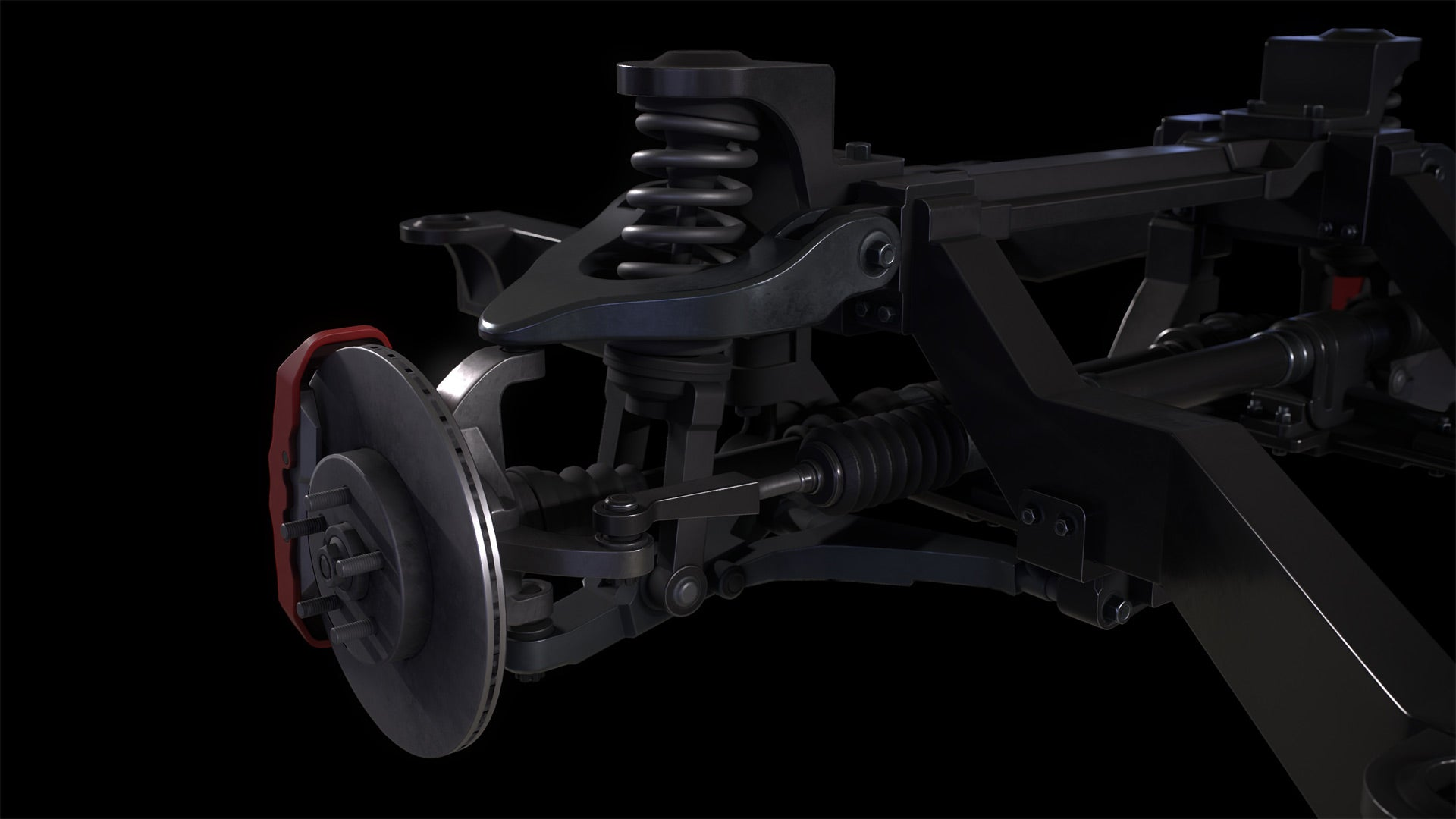 Car Chassis 3D Model Textured 2