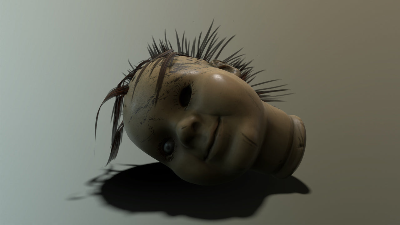 creepy dolls head