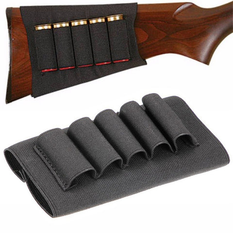 5 Shell Shotgun Butt-Stock Holster Black - Proper Prepper