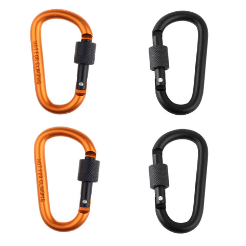 4Pcs Aluminum D-ring Locking Carabiner