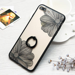 Cartoon Flower Case For iphone 7 6 6S Plus - Beauty Trend Insider