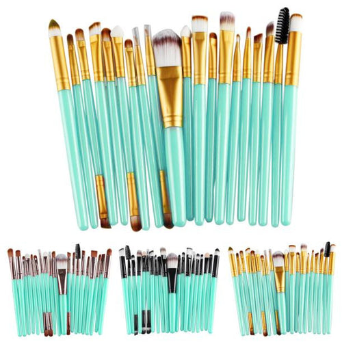 20 pcs Makeup Brush Set Mint Color - Beauty Trend Insider