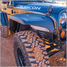 Front fender flare on jeep rubicon