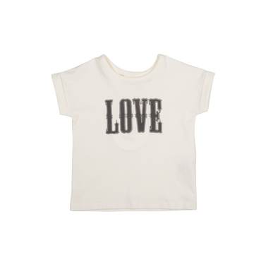 LOVE BABY T-SHIRT - OATMEAL