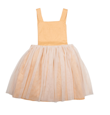 MUSTARD PINAFORE DRESS - MUSTARD