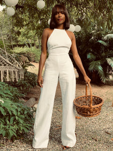 Linen Jumpsuit White