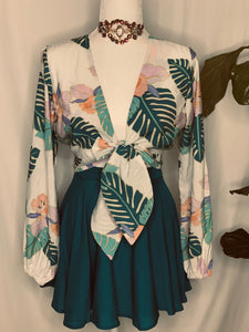 Teal Leaves Top