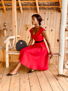 Debutante Dress in Red
