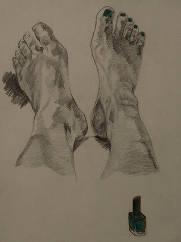 Green Toes Drawing