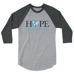 HOPE worldwide baseball 3/4 sleeve shirt
