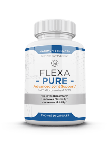 FlexaPure is a joint supplement that is made with all natural ingredients - glucosamine and chondroitin. The unique blend of ingredients helps support cartilage health, joint mobility and provides healing support. FlexaPure will help with the healing of sports injuries or other injuries to your joints.