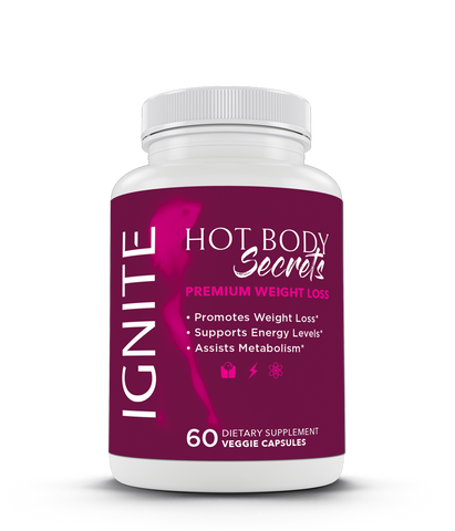 Introducing Ignite supplement from Hot Body Secrets! Our Ignite supplement is designed specifically to aid in fat loss by supporting and boosting metabolism & energy each time you take it. How does it work? All-natural ingredients include green coffee bean, raspberry ketone & green tea that naturally contain caffeine. Weight Loss Supplements | Fat Burning Supplements | How to Burn More Fat | Weight Loss Tips | Weight Loss for Women | Weight Loss for Men | How to Get More Energy