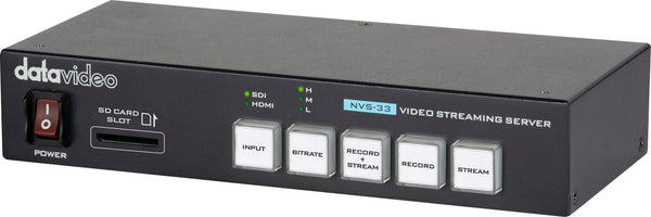 Datavideo NVS-33 Recorder/Streaming Encoder Front Angle