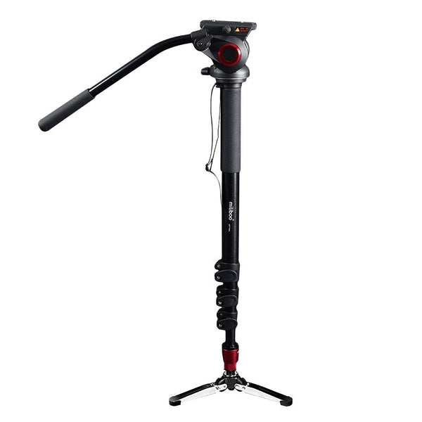 Aluminum Portable Fluid Head Camera Monopod