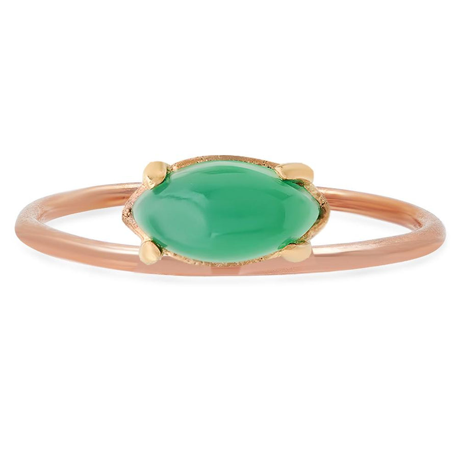 Studio Grun Offset Marquise Ring, Green Onyx