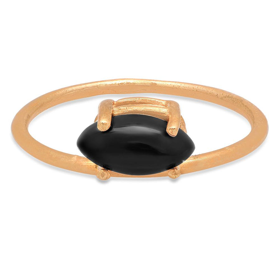 Studio Grun Offset Marquise Ring, Black Onyx