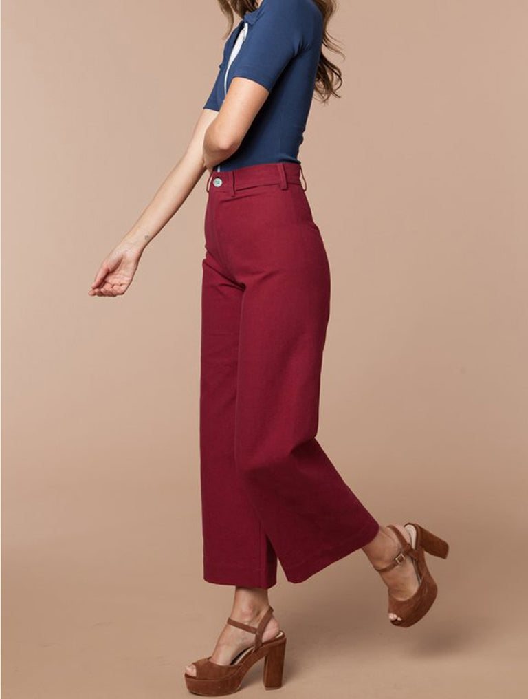 Stoned Immaculate Jenny Sailor Pant (Red)