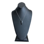 Black Obsidian Arrowhead Stone Sterling Silver Necklace