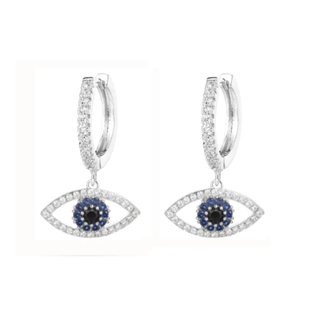 Evil Eye Sparkly Hoops