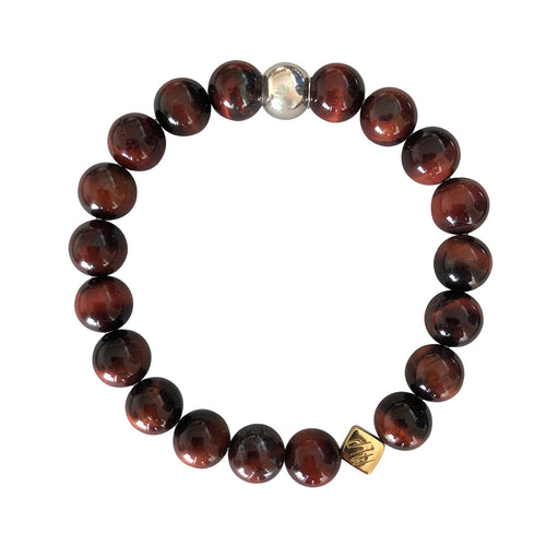 Gold Red Tiger Eye Bracelet