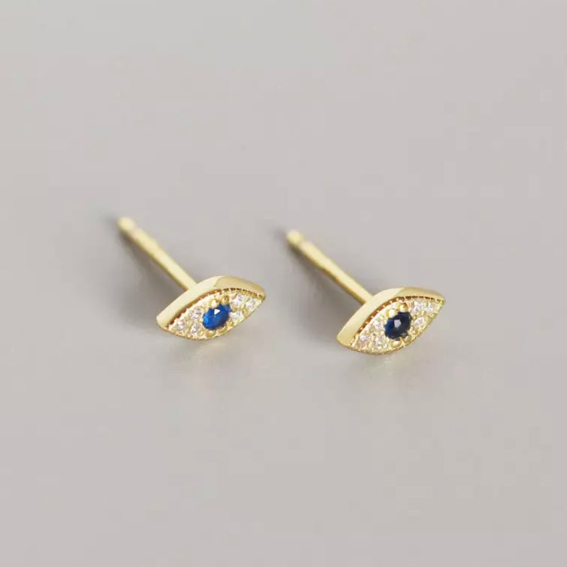 Mini Evil Eye Stud Earrings