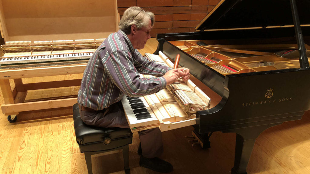 Piano tuning, voicing and regulation