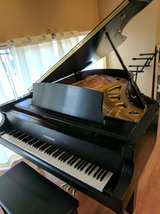 "New Baldwin 6' 3"" Grand Piano Satin Ebony S/N 01019"