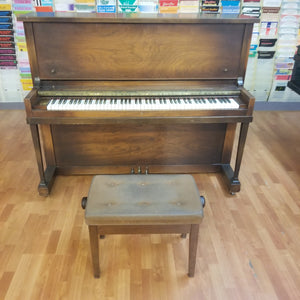 "Pre-owned 1928 Monarch & Baldwin 48"" Upright Satin Walnut S/N 200590"