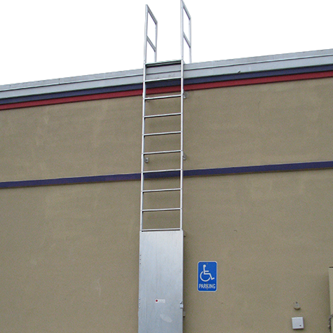 Fixed Aluminum Wall Ladders