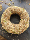 A Sphagnum Moss Wreath - 30 cm pre-made