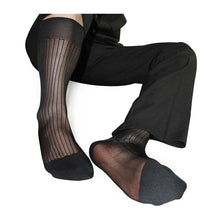 Load image into Gallery viewer, Men's Formal Silk TNT Sheer Socks - Eliot Grey