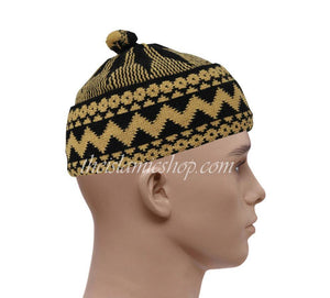 Alif-haji-hats-black-mustard-yellow-high-qualty-the-islamic-shop