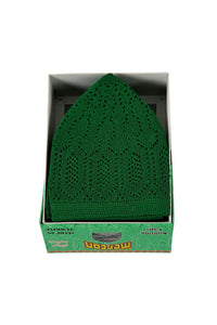 Alif collection Green colour Highest quality Turkish prayer hat - The Islamic Shop