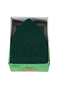 Dark Green colour Highest quality Turkish prayer hat - The Islamic Shop