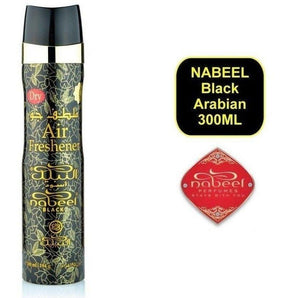 Nabeel Black Air Freshener 300ml Floral-Woody-Musky Incense Spray - The Islamic Shop