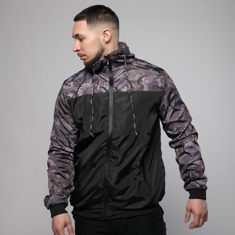 Camo Windbreaker Jacket