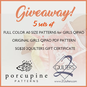 Giveaway Time! 5 sets of A0 size patterns to be given away!