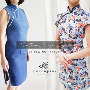 Custom Size Ladies Qipao / Cheongsam Pattern