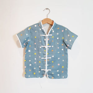 Boys Mandarin Collar Shirt